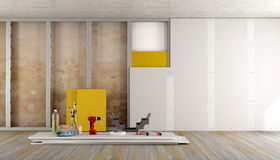 Home renovation of an old room Stock Photo