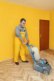 Home renovation, parquet sanding Royalty Free Stock Photos
