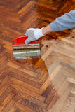 Home renovation parquet Stock Image