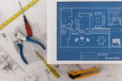 Home Renovation Plan Stock Image