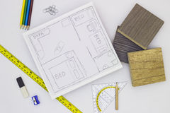 Home Renovation Sketch Royalty Free Stock Photo