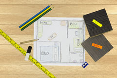 Home Renovation Sketch Royalty Free Stock Images