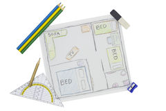 Home Renovation Sketch Stock Images