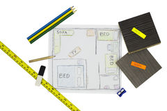 Home Renovation Sketch Royalty Free Stock Image