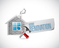 Home renovation symbol illustration design Stock Image