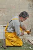 Home renovation, tile demolish Royalty Free Stock Image