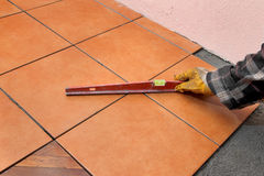 Home renovation, tiles Stock Photo