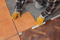 Home renovation, tiles Stock Photography