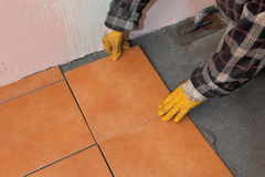 Home renovation, tiles Royalty Free Stock Photography