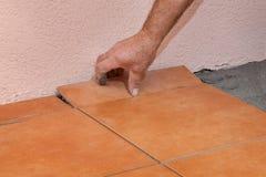 Home renovation, tiles Royalty Free Stock Photos