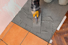 Home renovation, tiles Royalty Free Stock Images