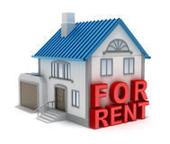 Home for rent. 3D concept Stock Images