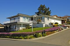 Home for rent. Executive home in Northern California for rent due to economic slump Stock Photography