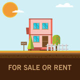 Home for rent or sale Stock Images