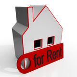 Home For Rent Sign Showing Rental Royalty Free Stock Images