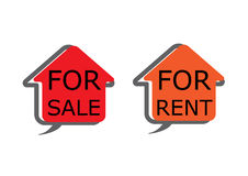 Home for rent vector Royalty Free Stock Photo