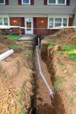 Home Repair. This is a home that had to have it's main sewer line dug up and repaired. Many older homes are having to have this done, and many are not covered by Stock Photos