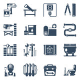 Home Repair Black Icons Collection Stock Photography