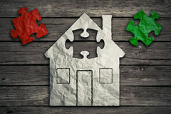 Home repair concept. Real estate housing industry Stock Images