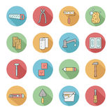 Home repair & construction outline circle vector icons. Part two Royalty Free Stock Images
