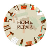 Home repair emblem. Working tools icons Royalty Free Stock Photos