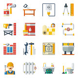 Home Repair Flat Icons Collection Stock Image