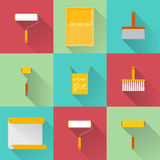 Home repair flat icons Stock Image