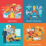 Home Repair Flat Set vector illustration