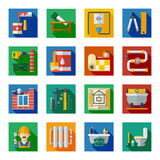 Home Repair Flat Square Icons Set Stock Photo