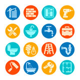 Home repair icon collection. Royalty Free Stock Photos