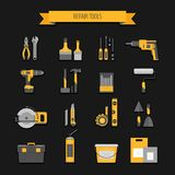 Home repair icon. Construction tools. Hand tools for home renova Stock Photo