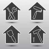 Home repair icon set Stock Images