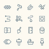 Home repair icon set Royalty Free Stock Image