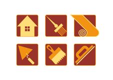 Home repair icons Stock Photo