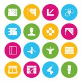 Home repair icons. Home repair diy interior electricity and walls renovation housework icons isolated vector illustration Stock Images
