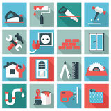 Home repair icons Royalty Free Stock Photos