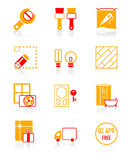 Home repair icons | JUICY series Royalty Free Stock Photo