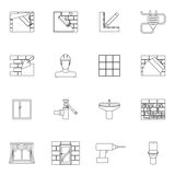 Home repair icons outline Royalty Free Stock Image
