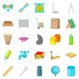 Home repair icons set, cartoon style Royalty Free Stock Image
