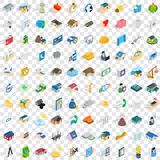 100 home repair icons set, isometric 3d style Royalty Free Stock Images