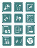Home repair icons | TEAL series royalty free illustration