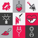 Home repair icons vector set Royalty Free Stock Photography