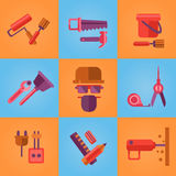 Home Repair Icons Stock Image