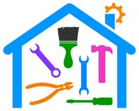 Home repair and improvement logo Royalty Free Stock Photo
