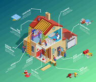 Free Home Repair Isometric Infographics Royalty Free Stock Images - 82126559
