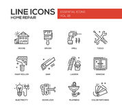 Home repair line design icons set Stock Photography