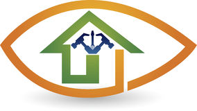 Home repair logo Royalty Free Stock Image