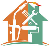 Home repair logo royalty free illustration