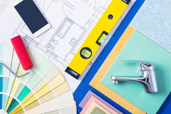Home repair and plumbing services Stock Images