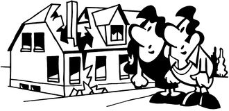 Home repair real estate cartoon Vector Clipart Royalty Free Stock Image